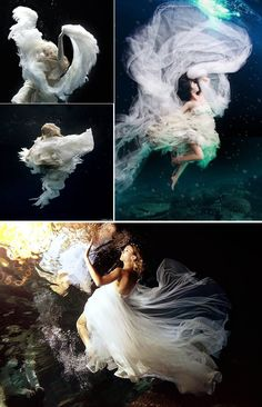 Underwater Wedding Pics | MORE INSPIRATION > www.yesbabydaily.com