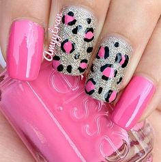 Cute leopard print nails