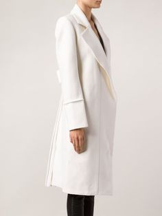 Victoria Beckham Microtwill Pleat Coat - - Farfetch.com