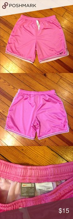 Nike shorts size small Nike shorts size small, pink , drawstring and elastic at the waist, great condition Nike Shorts