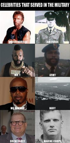 Celebrities That Served in the Military