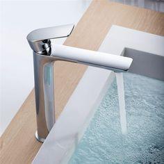 Waschtisch Design HOCH Hahn Wasserhahn Einhebel Mischer Waschbecken Armatur BAD in Heimwerker, Bad & Küche, Armaturen   eBay!