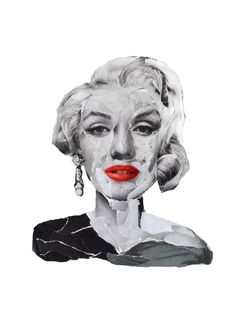 Marilyn Monroe collage by ThemCollages on Etsy