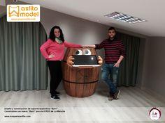 Soporte expositivo Barri Museo ICRDO La Mancha Museografía Grupo Axfito figura barrica viña