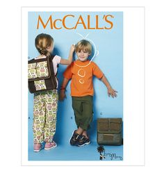 McCall's Patterns Children's/Boys'/Girls' Pants and Backpacks, Size CL - deal with a narcissist Sewing Kids Clothes, Dog Clothes Patterns, Sewing Patterns For Kids, Mccalls Sewing Patterns, Sewing For Kids, Sewing Ideas, Backpack Pattern, Our Generation Dolls, Kids Pants