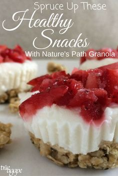 Healthy snacks can get a bit boring. When you add Nature's Path Granola to healthy snacks it makes it easy to spruce them up, changing the flavor and texture.