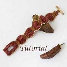 Beaded Bracelet Tutorial Picante by JewelryTales on Etsy Beaded Bracelets Tutorial, Seed Bead Bracelets, Crystal Bracelets, Seed Beads, Netted Bracelet, Jewelry Patterns, Bracelet Patterns, Beading Patterns, Seed Bead Tutorials