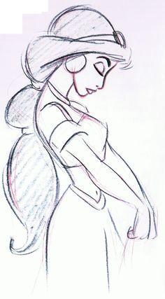 drawing jasmine profile sideways (disney) - Google Search