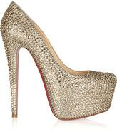 christian louboutin daffodile 160 crystal embellished suede pumps...BozBuys Budget Buyers Best Brands! ejewelry & accessories...online shopping http://www.BozBuys.com