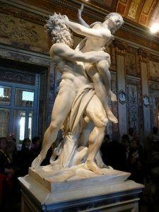 Gian Lorenzo Bernini -- Pluto and Proserpina --  Borghese Gallery, Rome.  My favorite !!!