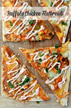 Buffalo Chicken Flatbreads w/ @stonyfield Greek Yogurt Buffalo Sauce! #CleanPlateClub #StonyfieldBlogger #recipe