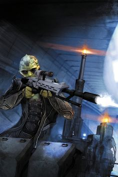 """""""Mass Effect - Thane, had him lead the other group in the suicide mission in Mass Effect 2. I consider him a good friend just like Garrus. Nothing more and nothing less. Broke my heart when he went home in Mass Effect 3"""""""