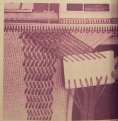 Knit weave_ alternative to using garter bar on any machine, and Brother early weaving patterns