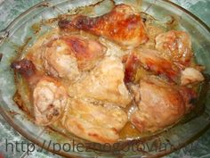 Запеченная курица в горчичном маринаде