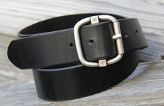 Black Cool Luke Leather Belt Size Men's 34 by StaghoundLeather, $42.00