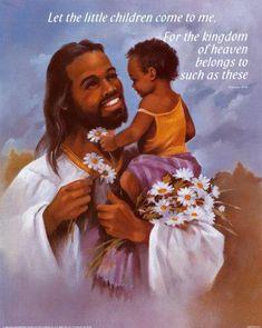 Jesus Is Black: Not White - Religion - Nigeria Black Jesus Pictures, Black Art Pictures, Angel Pictures, Black Love Art, Black Girl Art, Black Pic, African American Art, African Art, Black Angels