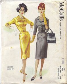 1950s McCall's 5180 | Hannah Troy Dress Pattern
