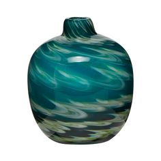Mw By Matthew Williamson Blue And Green Swirl Bud Vase Debenhams