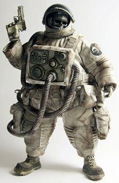 """Dead Astronaut Gangsta"" from and Ashley Wood Character Concept, Character Art, Concept Art, Character Design, Ashley Wood, Vinyl Toys, Vinyl Art, Custom Action Figures, Vinyl Figures"