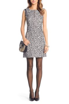 Diane Von Furstenberg Yvette Tweed Sleeveless Dress