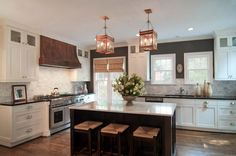 kitchen designs with french doors | ... french doors, wooden oven hood, stainless steel oven, marble tiled