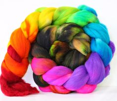 Rotten Rainbow 4 oz Targhee Roving Wool by atomicblue on Etsy