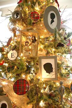 Holly Mathis Interiors: Stockings + boxwood silhouette tree