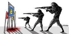 Dessinateurs du monde entier, tous «Charlie». Dessin de Rayma (Venezuela) pour Cartooning for Peace.