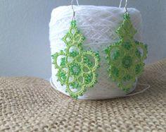 lace earrings zifirki by SvitLanu on Etsy