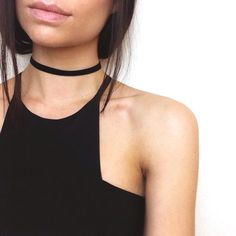 Thin Black Velvet Choker by SHOPMOVV on Etsy