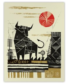 Poster capturing the feel of a place (in this case, Texas), by Curtis Jinkins