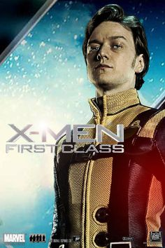Publicity poster for James McAvoy as Charles Xavier / Professor X in X-Men: First Class (2011)