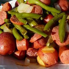 Amy's Po' Man Green Beans and Sausage Dish Recipe