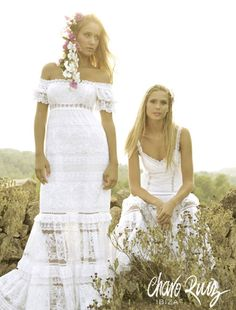 Beautiful boho chic wedding dresses by Charo Ruiz. And to all the Aussie brides - they ship to Australia! :-)