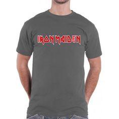 Tricou Iron Maiden: Logo Iron Maiden, Metalhead, Band Tees, Logos, Classic, Mens Tops, T Shirt, Derby, Supreme T Shirt