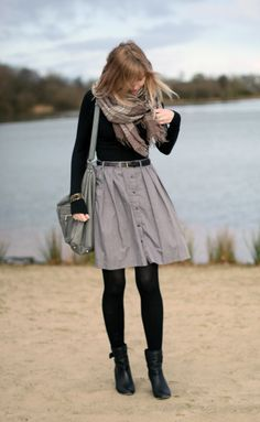 Skirt and scarf!