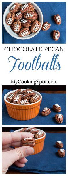Easy Chocolate Pecan Footballs! My Cooking Spot