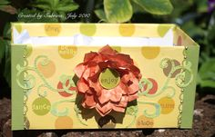 DTGD10 Floral Box by Cook22 - Cards and Paper Crafts at Splitcoaststampers  Border stamp on corners