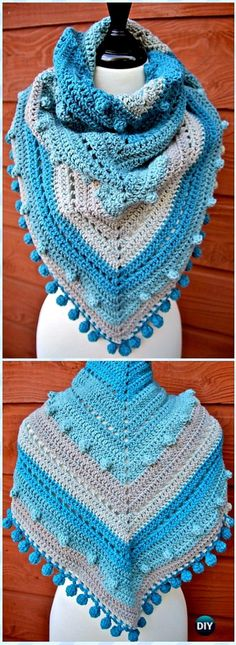 The Stitching Mommy: Crochet Misty Morning Triangle Scarf Shawl Free Pa...