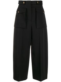 Shop online black Alexander McQueen Military wide-leg culottes as well as new season, new arrivals daily. Fashion Pants, Girl Fashion, Fashion Outfits, Fashion Design, Steampunk Fashion, Gothic Fashion, Business Outfits Women, Cute Pants, Pant Shirt