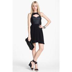 dd0df26fdb3c ASTR Faux Leather Cutout Dress ( 72) ❤ liked on Polyvore Cutout Dress
