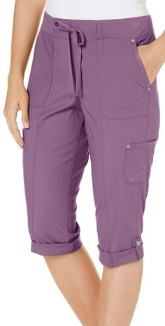 Womens Grecia Tie Skimmer Capris - Vintage Plum Purple - Clothing, Pants Source by clothes vintage Dope Fashion, Fashion Pants, Fashion Dresses, Style Fashion, Stylish Dress Designs, Stylish Dresses, Timberland Outfits, Timberland Heels, Timberland Fashion
