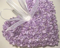 Lavender Sachet Heart with purple flowers by RebeccasHearts, $14.50 #etsysns
