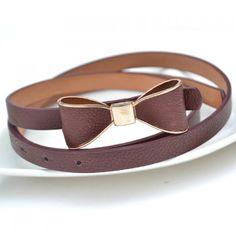 Stylish Chic Solid Color Slender Bowknot Buckle Waist Belt For Women, COLOR ASSORTED in Belts   DressLily.com