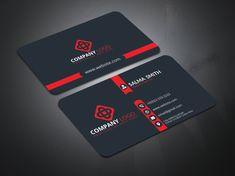 busness card 1 05 mockup 2 by Durjoy Bosu Modern Business Cards, Business Card Logo, Business Design, Creative Business, Corporate Design, Visiting Card Design, 2 Logo, Professional Logo Design, Plastic Card