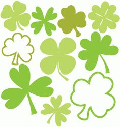 Silhouette Design Store - View Design #39046: lots of shamrocks & clovers