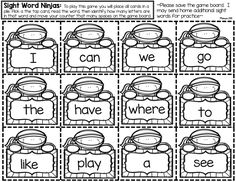 {FREE} Editable sight word game.