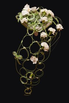 Wedding bouquet with Chines lanterns ~ Julia Guseva (Russia) floral designer - uploaded by Floristry Kiev