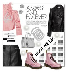"""""""boots"""" by aniadratwicka on Polyvore featuring IRO, Dr. Martens, Topshop Unique, Cole Haan, Yves Saint Laurent and Bobbi Brown Cosmetics"""