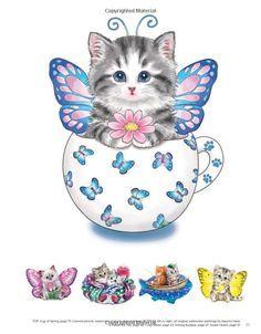 Amazon Com Teacup Kittens Coloring Book 9781497202269 Kayomi Harai Books Kitten Coloring Book Kittens Coloring Teacup Kitten